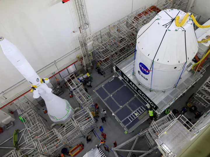 NASA prepares first Orion moon landing spacecraft to receive its   launch abort system